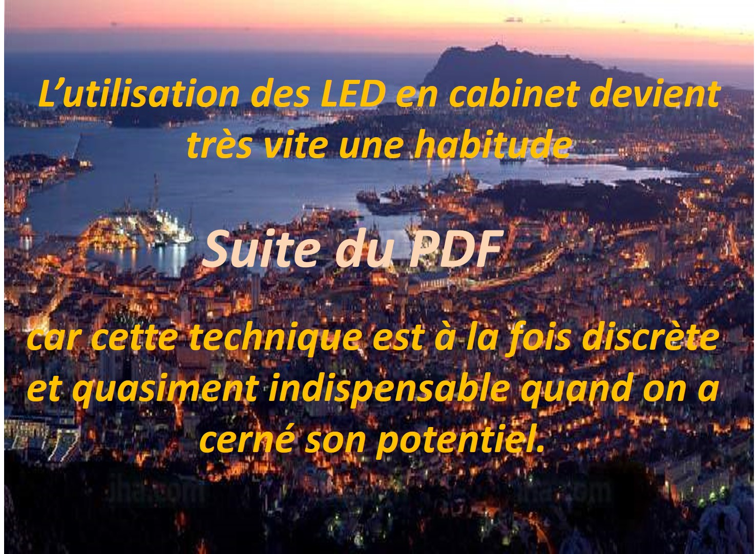 DR MICHEL LED en cabinet suite du PDF