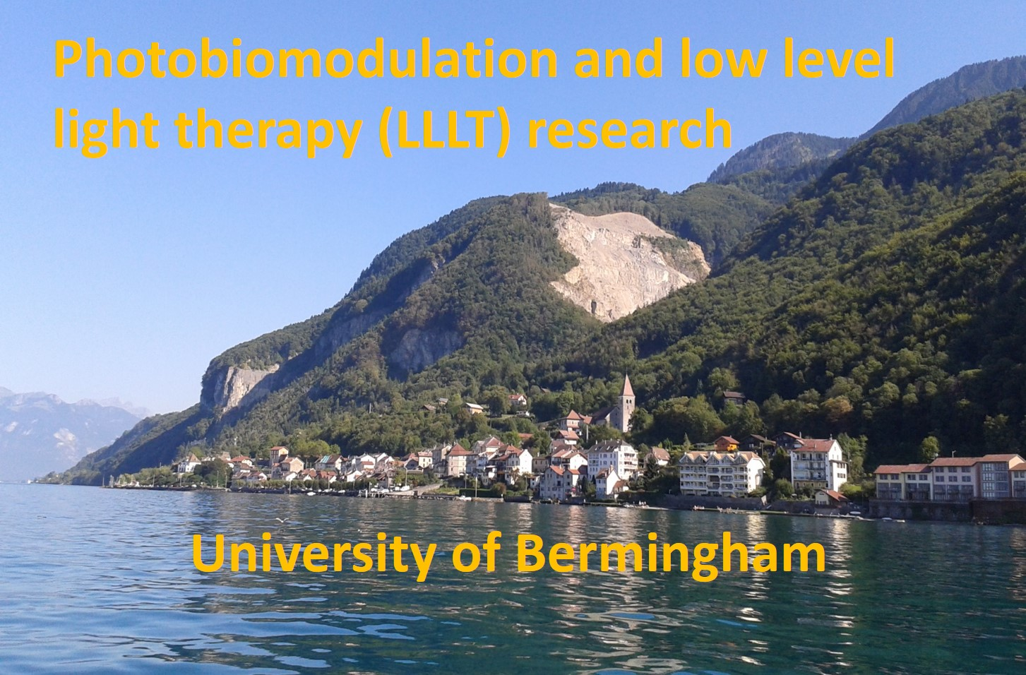 Photobiomodulation and low level light therapy (LLLT) research - University of Bermingham