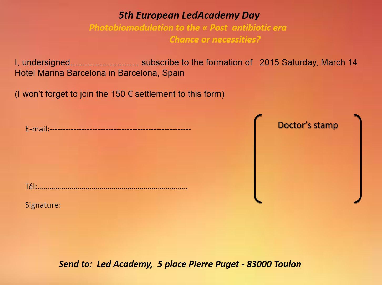 Led Academy vs angl Barcelone inscript 15 mars 2015