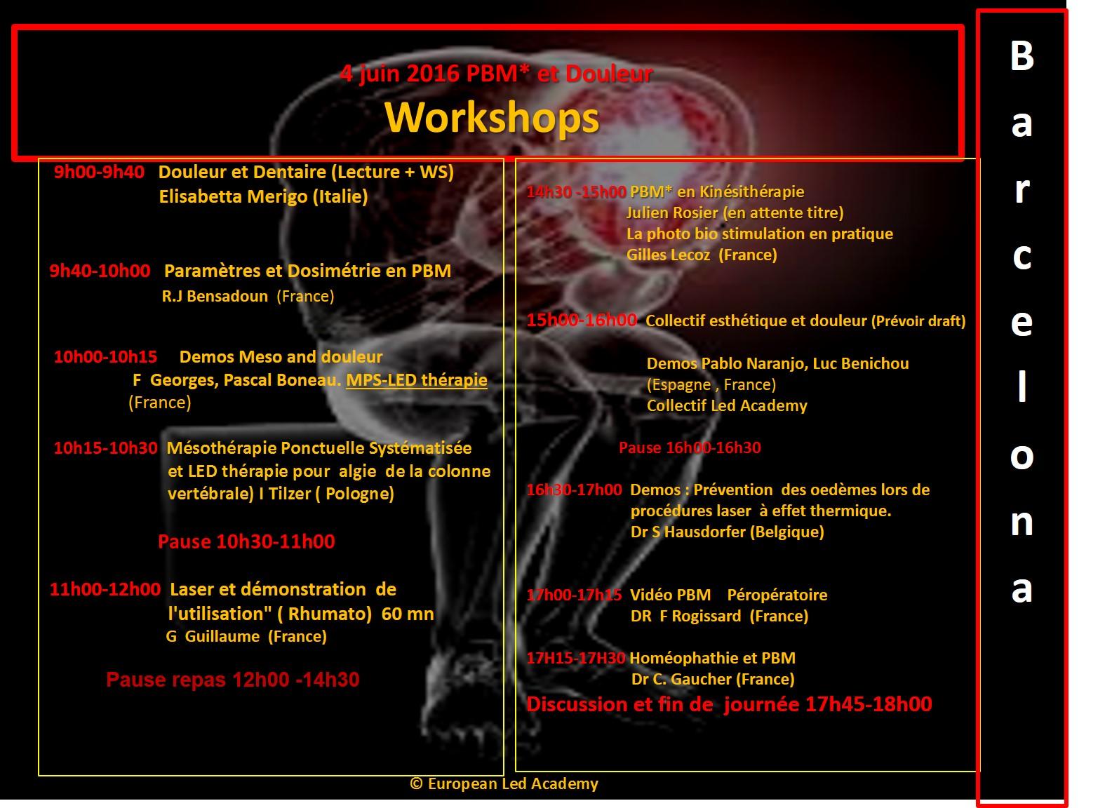 PRG Barcelone Workshops fr ELA