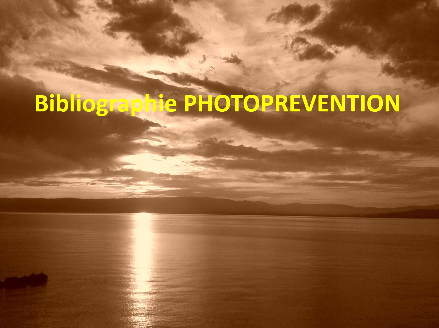 BIBLIOGRAPHIE PHOTOPREVENTION