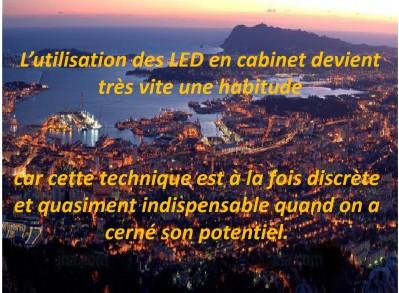 Utilisation LED en cabinet médical