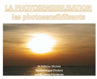 PHOTOTOSENSIBILISATION - Le pouvoir photosensibilisant d'une substance appliquée dépend du spectre d'action lumineux...
