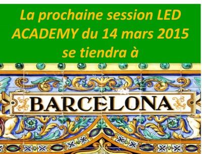 5ème Journée  EUROPEAN LED ACADEMY des 14 et 15 MARS 2015 à BARCELONE - LA Photobiomodulation à