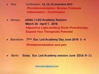 Agenda Eur Le Academy 2015/2016