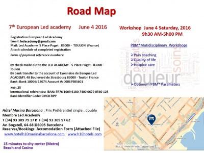 Road Map Barcelone June 3  4