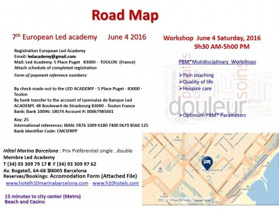Road map Barcelone